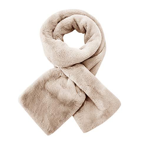 TIFIY Damen Schal Warmer und bequemer Plüschschal der Mode Frauen Winter Art und Weiseschal Weich Warm Bequem Basic Schal Khaki