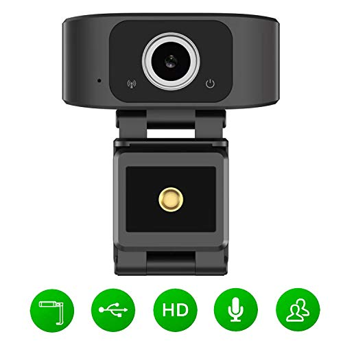 SANSCO Full HD 1080P Web Camera(30fps), Plug & Play Webcam USB Camera with Built-in Dual Microphone, Facial-Enhancement Technology, Multi-Compatible, for Video Conferencing, Recording, and Streaming