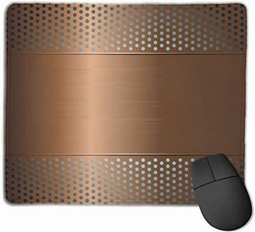 Geperforeerd raster plaat staal met stippen Illustratie Futuristische Technologie Gaming Muis Mat Pad Muis Mat Antislip Rubber Base Oppervlak voor Computer PC Toetsenbord en Bureau 9.8