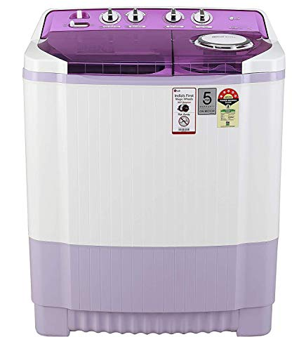 LG 7.5 Kg 5 Star Semi-Automatic Top Loading Washing Machine (P7535SMMZ, Mauve, Wind Jet Dry)