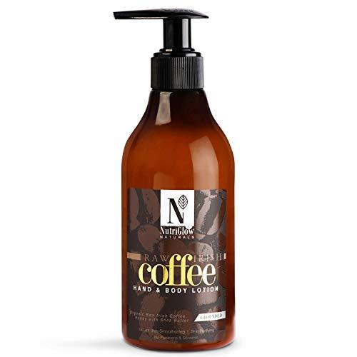 Nutri Glow Natural Coffee Loción para manos y cuerpo | Café irlandés crudo orgánico | Miel con manteca de karité | Suavizante instantáneo de la piel | Purificación de la piel 300ml