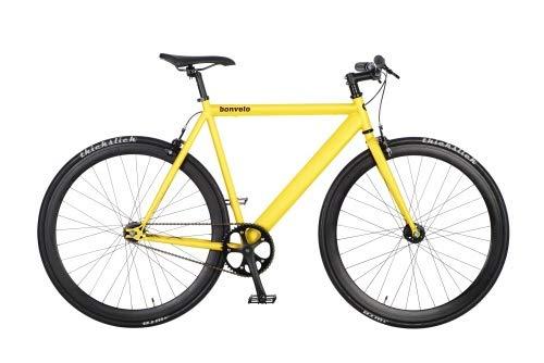 bonvelo Singlespeed Fixie Fahrrad Blizz Mellow Yellow (Large / 56cm für Körpergrößen von 170cm bis 181cm) - 2
