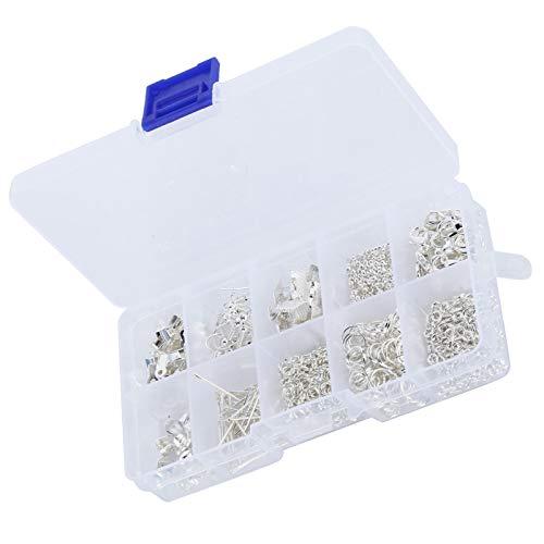 Herramientas de reparación de fabricación de abalorios de joyería, herramienta de inicio de fabricación de joyas Juego de fornituras de joyería resistentes al desgaste, brillante para