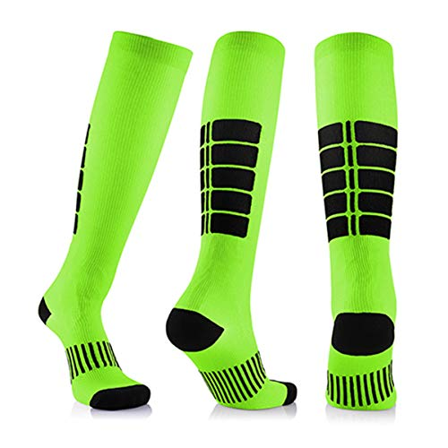 3 Para Antifatigue Unisex Kompressionsstrümpfe Strümpfe Kompression Compression Socks Medizinische Krampfadern Bein Relief Schmerzen Grün Groß