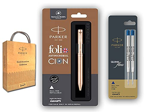Parker(luxar) Folio Antimicrobial Clon Copper Ion Ball Pen with Flow Combo Refills