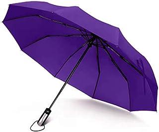 Junefish Travel Windproof Umbrella Unbreakable Automatic Compact Umbrellas Men/Women One Handed Operation, 10 Ribs Reinfor...