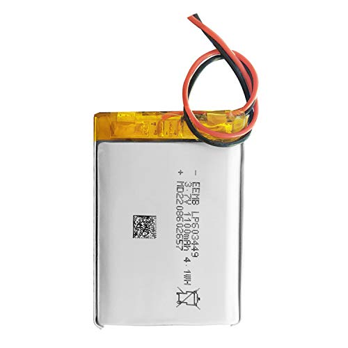 3.7v 充電式 リチウムイオン電池 リチウムポリマー電池 充電池 角形 603449 1100mAh 二次電池 UL適合品 Bluetoothヘッドセット用 EEMB メーカー直販 (1)