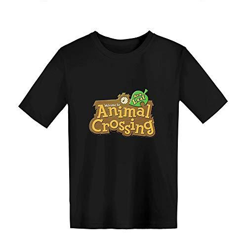 ACBANANA T-Shirt Manches Courtes Col Rond été Garçon/Fille T-Shirt Animal Crossing Pull Amusant T-Shirt Décontracté en Coton