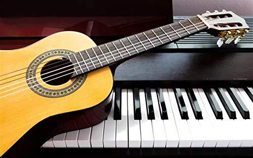 HJZS Puzzle 1000 Stück für Erwachsene Gitarre und Klavier Puzzle White Card Erwachsene Kinder Lernspielzeug