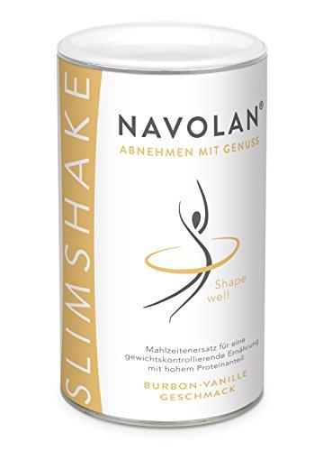 NAVOLAN Bourbon Vanille SLIM SHAKE: Mahlzeitenersatz zum schnellen Abnehmen, 14 Ersatzmahlzeiten, lecker cremiger Vanillegeschmack einfache Zubereitung