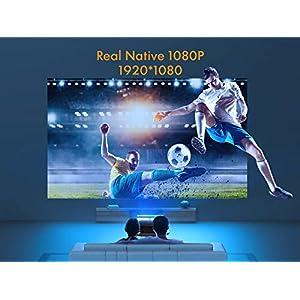Beamer, APEMAN Native 1080P Full HD Projektor, 300'' LED Display Unterstützt 4K Video, ±25° Fern Elektronische Korrektur, kompatibel mit HDMI/USB/Smartphone/Laptop/TV Stick/PS4/Xbox, Für Heimkino
