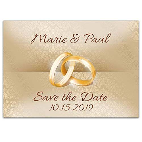 Rings Save the Date Card Wedding Invitation