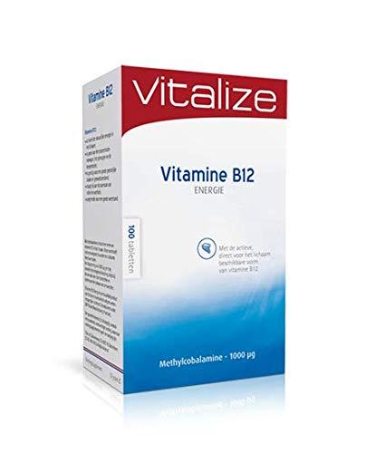 Vitalize B12 Energie 100 tabletten - Draagt bij aan extra energie bij vermoeidheid en moeheid