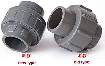 Fevas PVC Joint Water Supply Pipe Joint Fittings 50mm 63mm 75mm 90mm 110mm - (Color: 110mm, Specification: Grey)