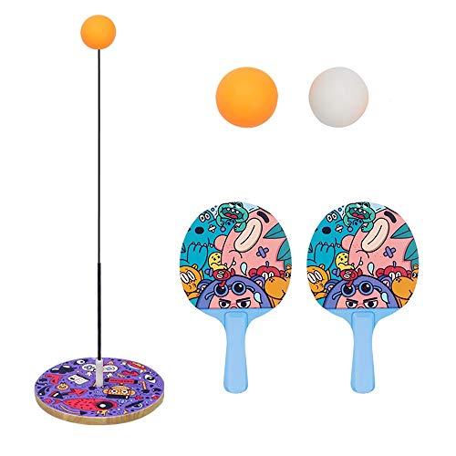 Yifuty Tischtennis Trainingsgerät, Flummi Flummi, 3 Jahre Alten Jungen und Mädchen-Geschenk, Feinbewegungstraining Spielzeug, Schläger, Hand-Auge-Koordination