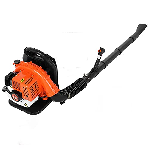 63CC Backpack Gas Powered Leaf Blower - 2-Stroke 3Hp High Performance Gasoline Blower for Lawn Care with Vacuum Capability (Type-B)