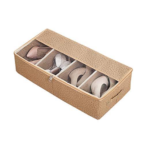 EggshellHome Combinatie Opslagruimte Schoenenbox, Home Lange Laarzen Opvouwbare Transparante Raam Opbergdoos, Zet Mannen en Vrouwen Schoenen Opgelegd