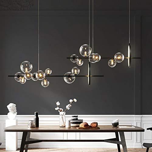 LED moderna lámpara pendiente G4 y lámpara LED bola de cristal lámpara colgante creativo lámpara regulable en altura hermosa lámpara pendiente de la bola de cristal transparente,3000k,10*G4