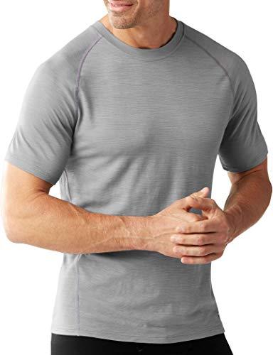 Smartwool T-Shirt Men's en Laine mérinos 150 Base Layer Pattern Fonction Manches Courtes pour Homme XL Bleu Vif