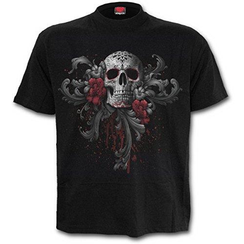 Spiral T-Shirt pour Homme Motif Sugar Doll Noir - XX-Large