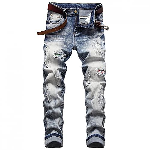 Herren Jeans Hose Coole Jungen Cargo Chino Sommer Winter Basic Stretch Jeanshosen Jogger Chinohose Freizeithose Stretch Slim Fit