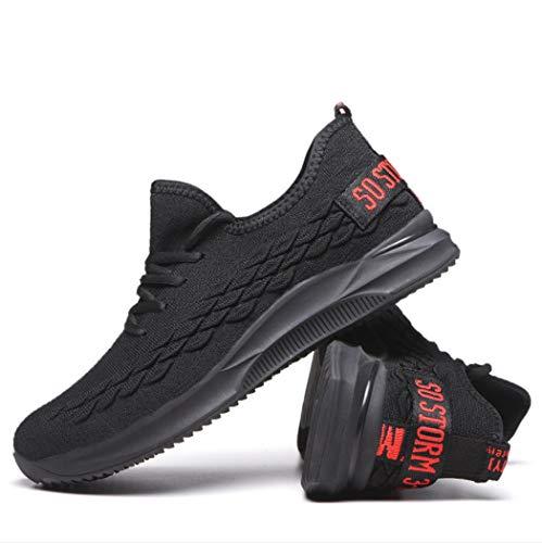 AZLLY Veiligheidsschoenen voor dames en heren, lichtgewicht sportschoenen, ademend, loopschoenen, gebreid weefsel, bescherming tegen vallen en steken voor outdoor, lopen