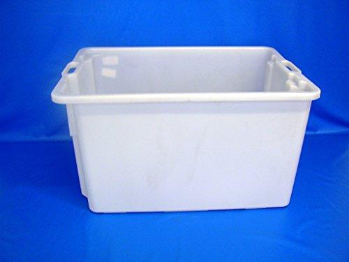 PLASTICOS HELGUEFER - Cubeta Apilable Y Encajable de 65 Litros (Sin Tapa)
