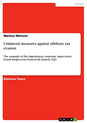 Unilateral measures against offshore tax evasion: The example of the Argentinean corporate supervisory board (Inspección General de Justicia, IGJ) (English Edition)