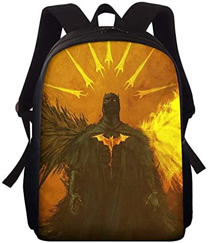 Mochila B-at-m-an The Dark Knight para niños, mochila de guardería, regalo para niños, regalo juvenil, holgada, cómoda, ligera (A03,16 pulgadas)