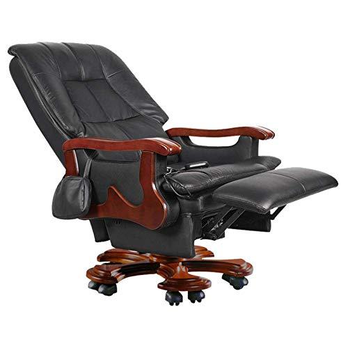 ZXN RTU Relax cómodo y seguro Boss silla, silla ejecutiva de cuero de masaje eléctrico silla reclinable silla de oficina silla giratoria sillas de gestión 360 grados altura ajustable