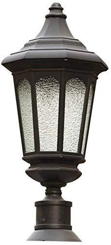 ZXDFV Outdoor Door Pillar Headlight Waterproof Column Light Railing Light Residential Wall Garden Light E27 Decoration Illumination Energy Saving Patio Porch Street Lantern Headlight Floor Lamp