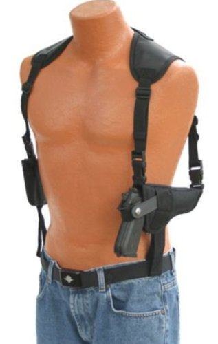 Pro-Tech Outdoors This Horizontal Shoulder Holster by Brand Name Fits The Glock,Colt,h&k,Kahr,Ruger,Sig Sauer,Smith and Wesson, Springfield, Taurus, Wather. See Inside for Size Chart