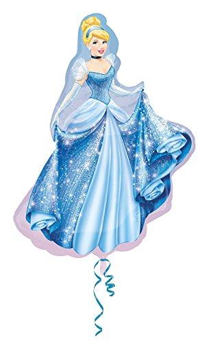 Amscan Anagram 2481401 - Party und Dekoration - Folienballon SuperShape - Disney Princess - Cinderella, circa 71 x 84 cm