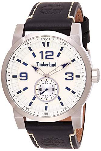 Timberland Reloj Analógico para Hombre de Cuarzo con Correa en Cuero TBL.15475JS/07