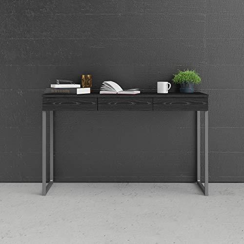 Tvilum Function Plus Schreibtisch, Holzwerkstoff, Schwarz, 125,8 x 51,6 x 76,5 cm