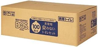 驚異の防臭袋 BOS (ボス) 非常用 簡易トイレ セット 100回分 (Bセット)