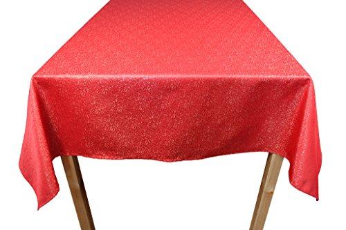 Lovein poliestere Natale tovaglie Gold random-point modello (rosso, diverse misure)