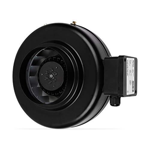 neverest RV-B 150 mm Profi Rohrventilator Rohrlüfter Abluftventilator Lüftung 800 m³/h Pa 360