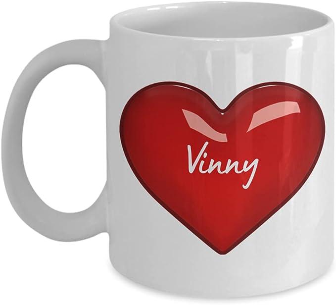I Love Vinny Mug - Personalized Coffee Mugs