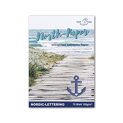 Northpaper Letterblock 70 Blatt A4 / 120 g/m² spitzenschonendes Spezialpapier