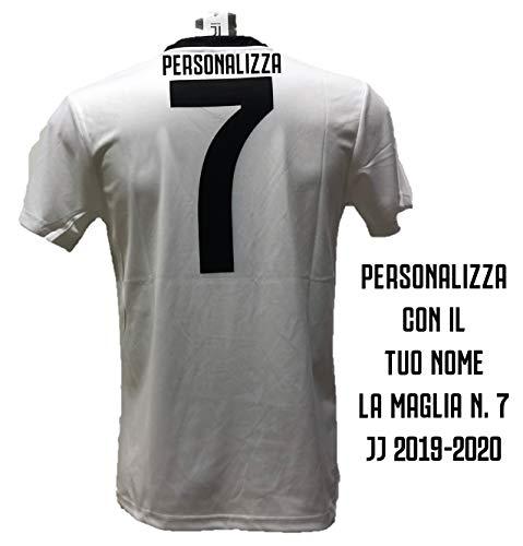 DND di D'Andolfo Ciro Maglia Calcio bianconera Numero 7 Replica autorizzata 2019-2020 Taglie da Bambino e Adulto. Personalizza con Il Tuo Nome (8 Anni)