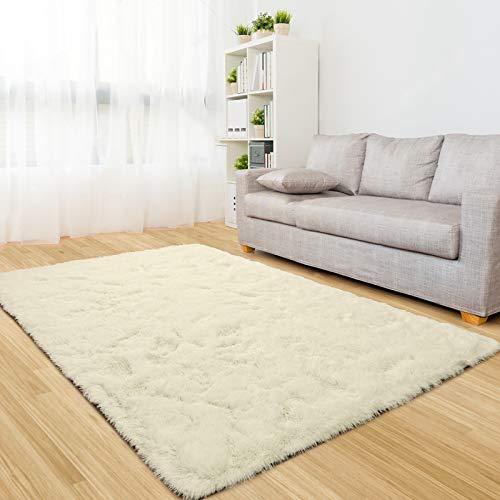 ラグ 洗えるカーペット ラグマット 絨毯 130x190cm ベージュ 滑り止め付 シャギーラグ 多色選 防臭 防音 さらさら 冬 1年中使える 床暖房 ホットカーペット対応 厚手 センターラグ ふわふわ