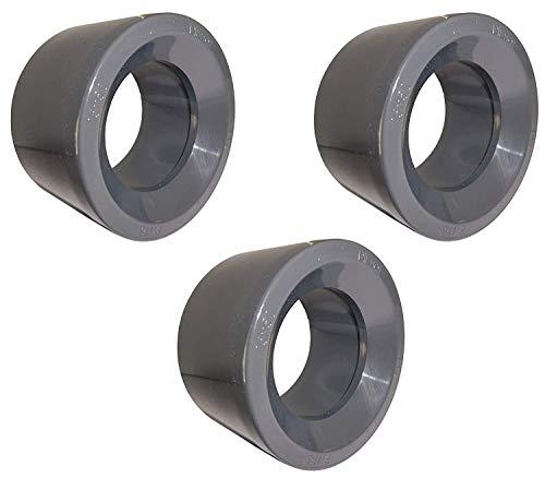 well2wellness® PVC - reductie kort - 63 mm x 50 mm (200157) - 3 stuks