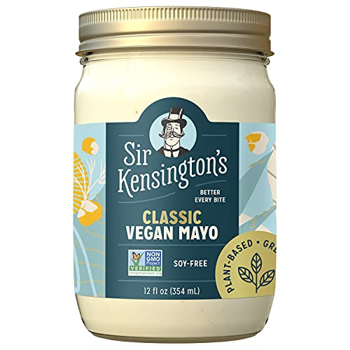 Sir Kensington's Vegan Mayo Classic Keto Diet Certified Gluten Free Certified Vegan Soy Free Non- GMO Project Verified Shelf-Stable 12 oz