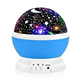 Night Light for Kids, Votozi Kids Night Light, Star Night Light, Moon and Star Projector 360 Degree Rotation - 4 LED Bulbs 9 Light Color Changing with USB Cable, Unique Gift for Men Women Children