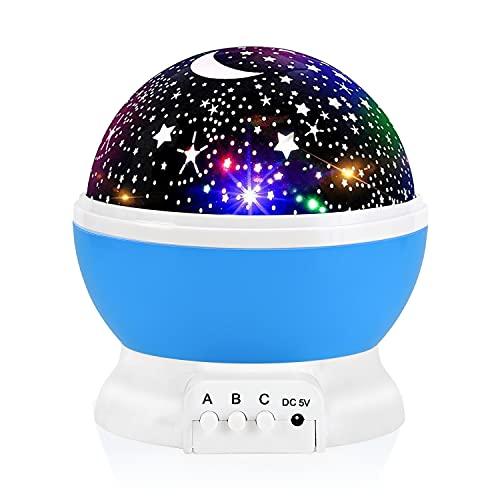 Night Light for Kids, Votozi Kids Night Light, Star Night Light, Moon and Star Projector 360 Degree...