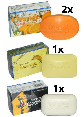 Nag Champa Seifen Sortiment 4er Pack Pflegeseife Soap Aroma Beauty Wellness