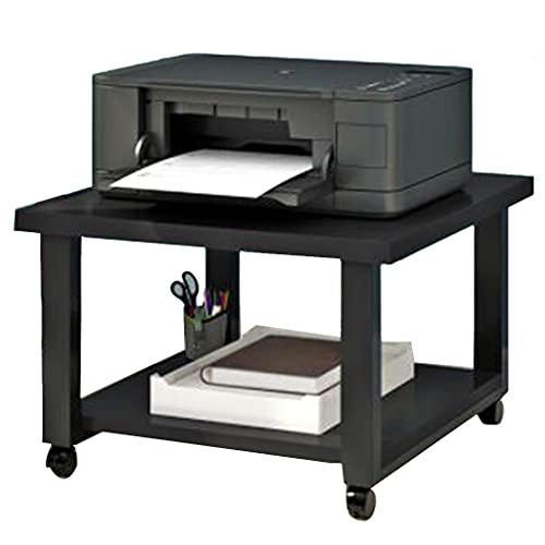 Estante De La Impresora Madera para Fotocopiadora Almacenamiento del Hogar De La Oficina Almacenamiento De Doble Capa Organizador