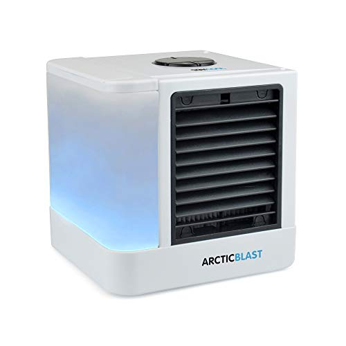 Staycool? Arctic Blast Personal Air Cooler - USB Powered Humidifier Fan With Colour Changing LED Night Light Water Tank - F9001WH - White