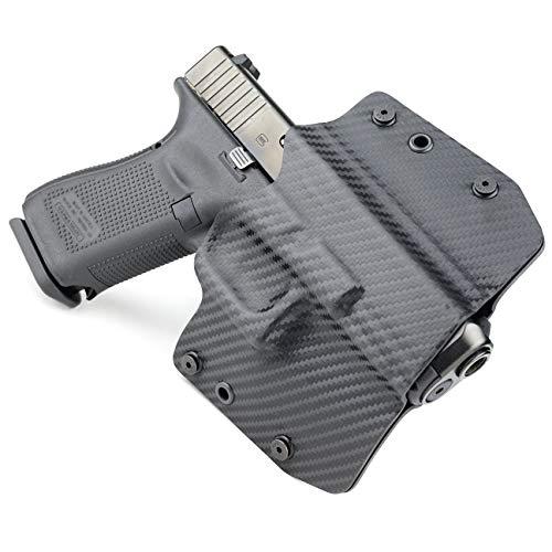 OWB Holster - Black Carbon Fiber (Right-Hand, Fits Glock 43...